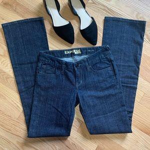 Express Stella Boot Cut Jeans Dark Wash